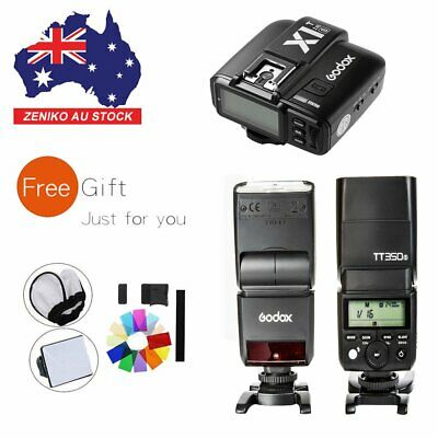 AU 2X Godox TT350S 2.4G TTL HSS Flash Speedlite Light+X1T-S Trigger For Sony Kit