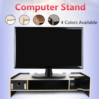 Desktop 2 Layer Computer Stand Screen Monitor Mount TV Display Desk Riser Table