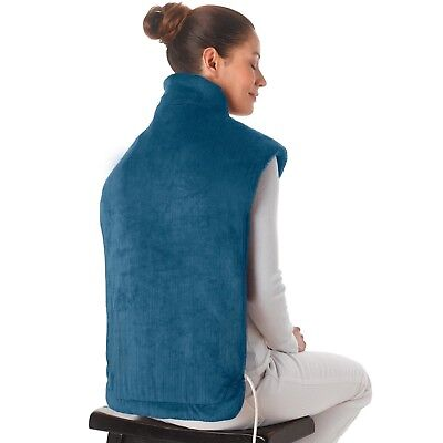Neck Shoulders And Back Heat Wrap Extra Long Massaging Relief Body Therapy Blue
