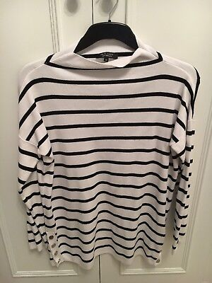 New Look Maternity Stripy Black And White Breton Style Pregnancy Jumper