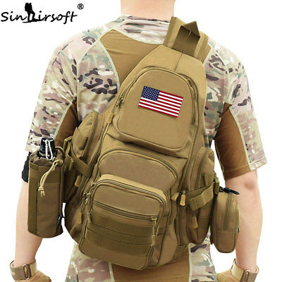 Molle Mens Outdoor Sling Chest Bags Tactical Messenger Assault Shoulder Backpack