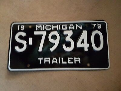 Plaque d'immatriculation Michigan S-79340 USA US License Plate