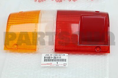 8155135111 Genuine Toyota LENS, REAR COMBINATION LAMP, RH 81551-35111
