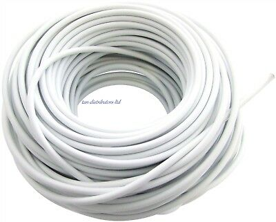 New 30m White Window Net Curtain Wire 100ft Hanging Flexible Wire Cord Cable DIY