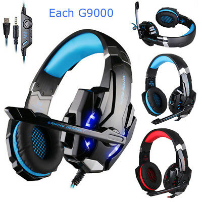 KOTION EACH G9000 3.5 LED Gaming Headphone Stereo Headset for PC Laptop PS4 X8X2