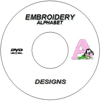 New 8000 Alphabet Embroidery Designs  Peter Rabbit/ Pooh Bear Pes Brother Cd Dvd