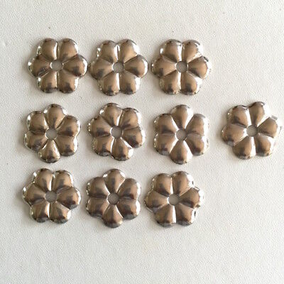 Flower EMBELLISHMENTS x 10 leather craft new Metal OLD STOCK original bag BULK