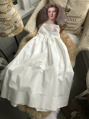 Antique Victorian Baby Infant Christening Gown Slip Piny