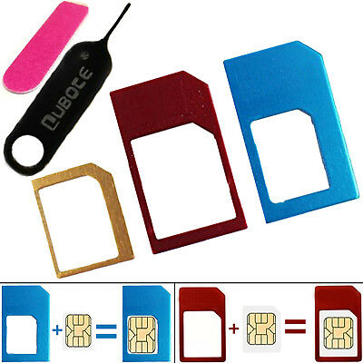 Micro-Nano Metal Heavy Duty Sim Card Adapter With Sandpaper And Sim Tray Opener