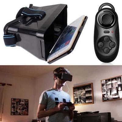 3D VR Box Virtual Reality Video Glasses For Smartphone + Bluetooth Controller