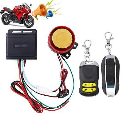 Motorcycle Motorbike Bike Anti-theft Security Alarm Remote Control Sensor System