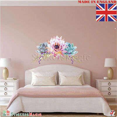 Peony Wall Stickers Decal Bedrooms Living Room Floral Flower Large Mural UK