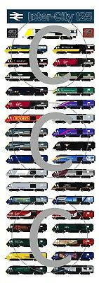 UPDATED - Intercity 125 Poster - 40 years of the HST Railwayana