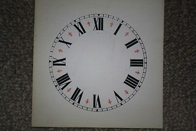 "Vintage Clock Replacement Parts/Spares Dial/Face White5"" (124mm) Roman Numerals"