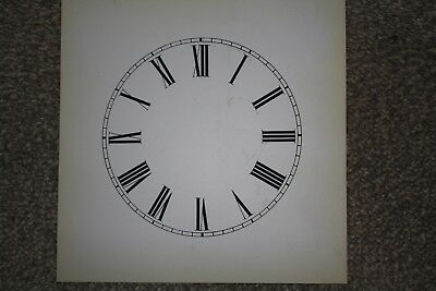 "Vintage Clock Replacement Parts/Spares Dial/Face White6"" (150mm) Roman Numerals"