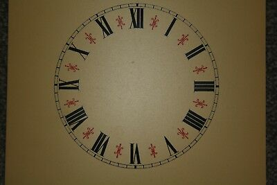 Vintage Clock Replacement Parts/Spares Dial/Face Cream 5.5 inch Roman Numerals