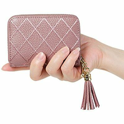 a0d87e1ba0cf WOMEN'S RFID BLOCKING 15 Slots Card Holder Leather Zipper Accordion  Wallet,Dark