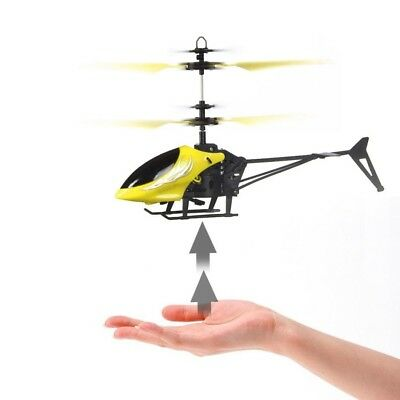 (Yellow2) - Auwer Flying Mini RC Infrared Induction Helicopter Aircraft