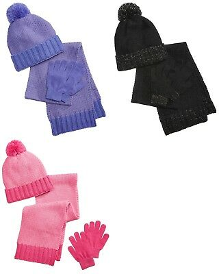 New Berkshire Little and Big Girls 3-Pc. Hat, Gloves & Scarf Set MSRP $30.00