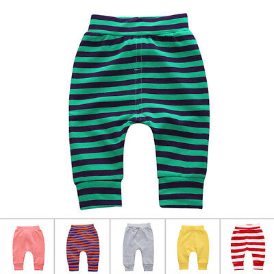 New Leggings Harem Pants Baby Cool Stripes Spring Trousers Girls Boys Toddler