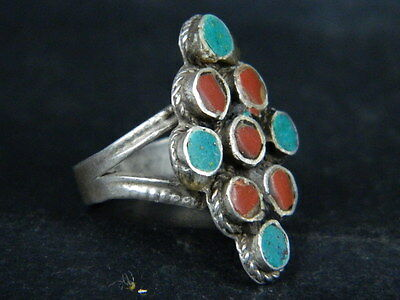 Ancient Post Medieval Silver ring With Stones 1800 AD   ##AZ15##