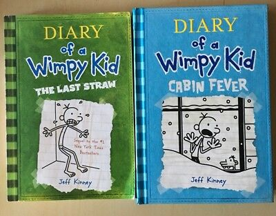 Diary of a Wimpy Kid 2 Books The Last Straw -Paperback, Cabin Fever -Hardcover