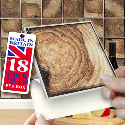 """18 Frontier 4"""" x 4"""" Stick On Self Adhesive Tile Stickers Kitchens & Bathrooms"""
