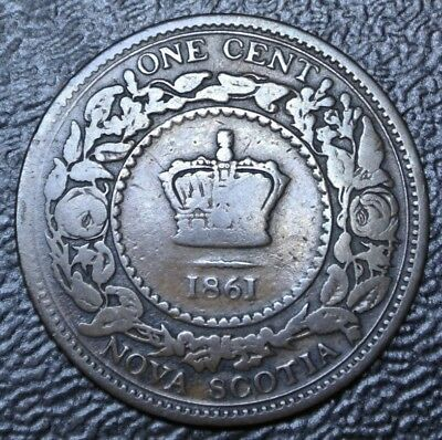 OLD CANADIAN COIN 1861 NOVA SCOTIA - ONE CENT - BRONZE - Victoria - Nice
