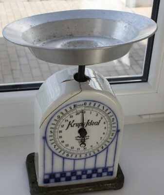 Krups ideal Old Kitchen Scales-Ceramic DRGM Germany