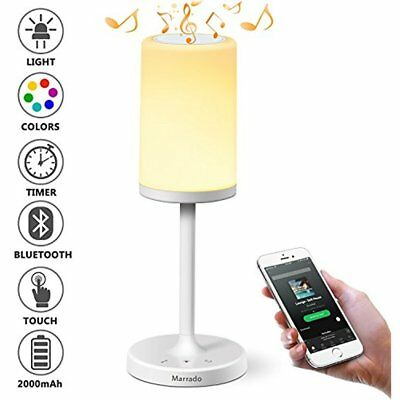 Bluetooth Speakers Bedside Lamp, Night Light, Smart Touch Control Table Bedroom