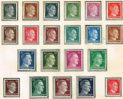 Germany Third Reich Hitler Birthday 21 stamps set 1941 MNH/MLH