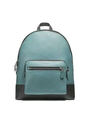 f6f840a31785 COACH F27287 Men s West ColorBlock Backpack bookpack Leather Traveler Slate  NWT