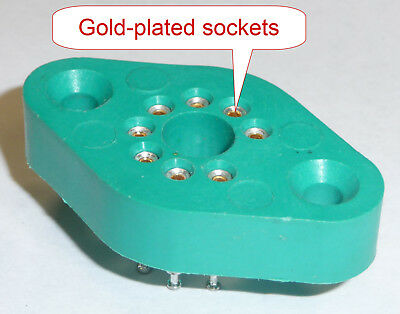 Socket for TO-3 8-pin Power Op-Amps - Hard to find item, gold-plated sockets