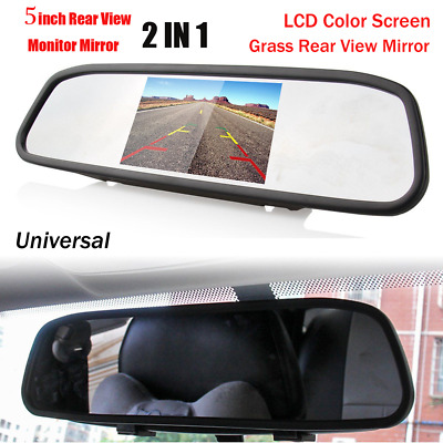 5'' TFT LCD 800*480 Car Rear View Mirror Monitor For Parking Reverse Camera VCR