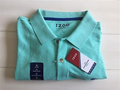9591fa61 Izod Advantage Performance Upf 15 Polo Shirt Cascade Green Mens Large New