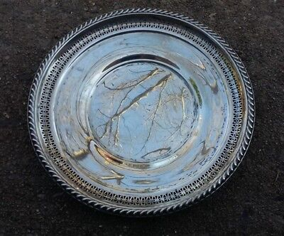 La Pierre Sterling Silver Reticulated Pierced Open Edge Cookie Plate 8-1/2""