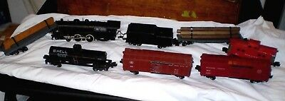 AC American Flyer S Scale Reading 300 Locomotive & Tender w/ Cars, Transformer