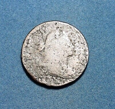 1797 Draped Bust Large Cent Average Circulated Condition Plain Edge 1c copper