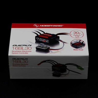 Hobbywing Quicrun Waterproof 16BL30 Brushless ESC Speed Control 30A : 1/18 1/16