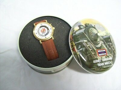 Lional Collectable Train Watch with Moving Train Second Hand & Leather Band NEW!