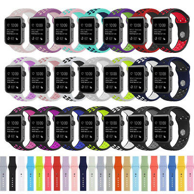 Silicone Replacement Sports Strap Watch Band for Apple Watch iWatch 42mm 38mm