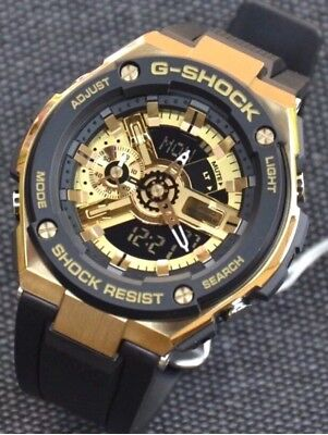 064eb9daa19a CASIO G-SHOCK G-STEEL Gold Face Tough Solar Men's Watch GST-200CP-9A ...