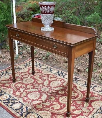 Great 1920 English Regency Mahogany Server Entry Hallway Table One Drawer