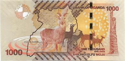 UGANDA 1000 Shillings, P- 49e, NEW ISSUE (AU - UNC) from 2017; KUDUS