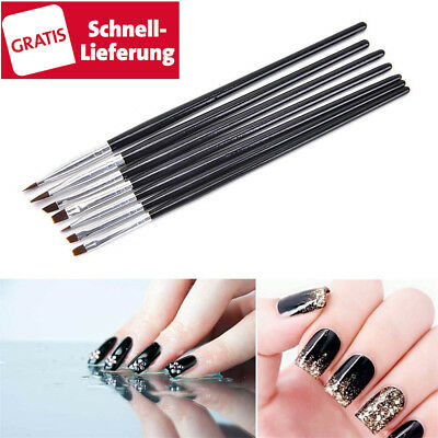 7 tlg UV Acryl Gel set Pinsel Stift Gelpinsel Nail Art Nagelart Maniküre Nailart