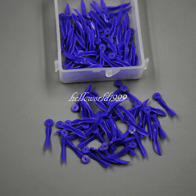 100 Pc Dental Disposable Plastic Round Stern Wedge Holes Wave Poly-Wedge Large