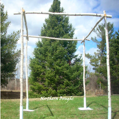White Birch Wedding Chuppah Kit with Stands