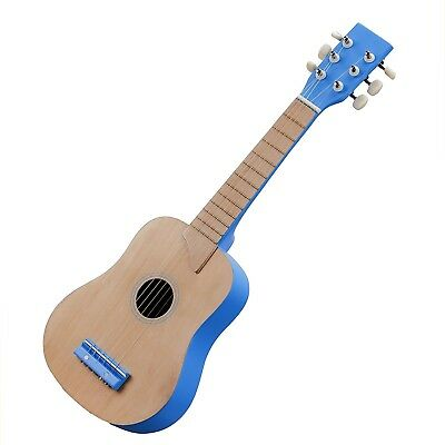 New Classic Toys - Guitar 10301 - Nature/Blue. Delivery is Free