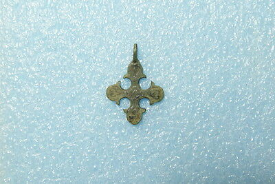 Ancient Bronze Pendant Cross  Kievan Rus, Byzantine, Viking c 11-13 AD