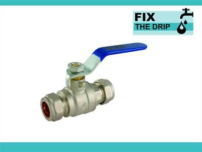 FtD 54mm APPROVED COMPRESSION LEVER BALL VALVE Blue FULL BORE